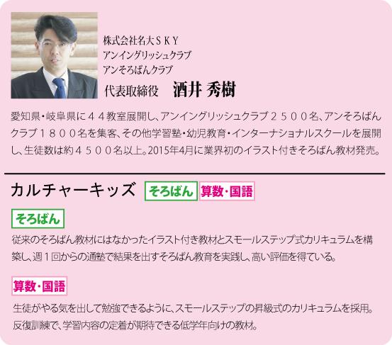 株式会社名大SKY 代表取締役 酒井秀樹