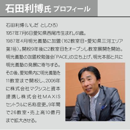 石田利博氏 プロフィール
